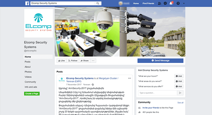 Elcomp fb-page screen