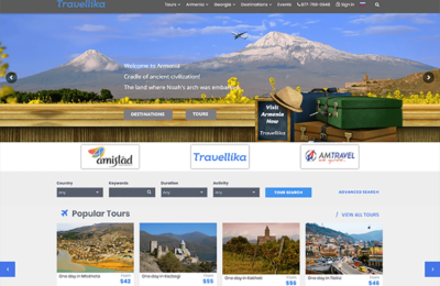 Travellika.com screen