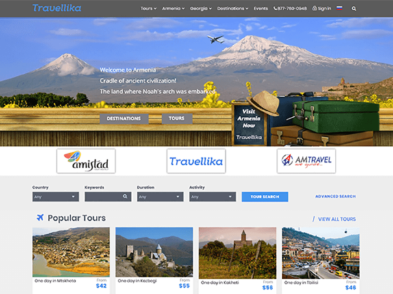 Travellika.com screen